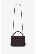 f0c8f957da9f Medium College Bag In Black Tulip Quilted Leather by Saint Laurent...