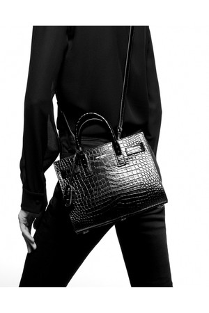 10af79e9dbc7 Saint Laurent Classic Sac De Jour Nano In Embossed Crocodile Shiny Leather