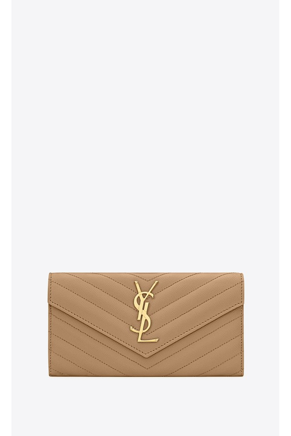 b42be82938f Monogram Large Flap Wallet In Grain De Poudre Embossed Leather by...