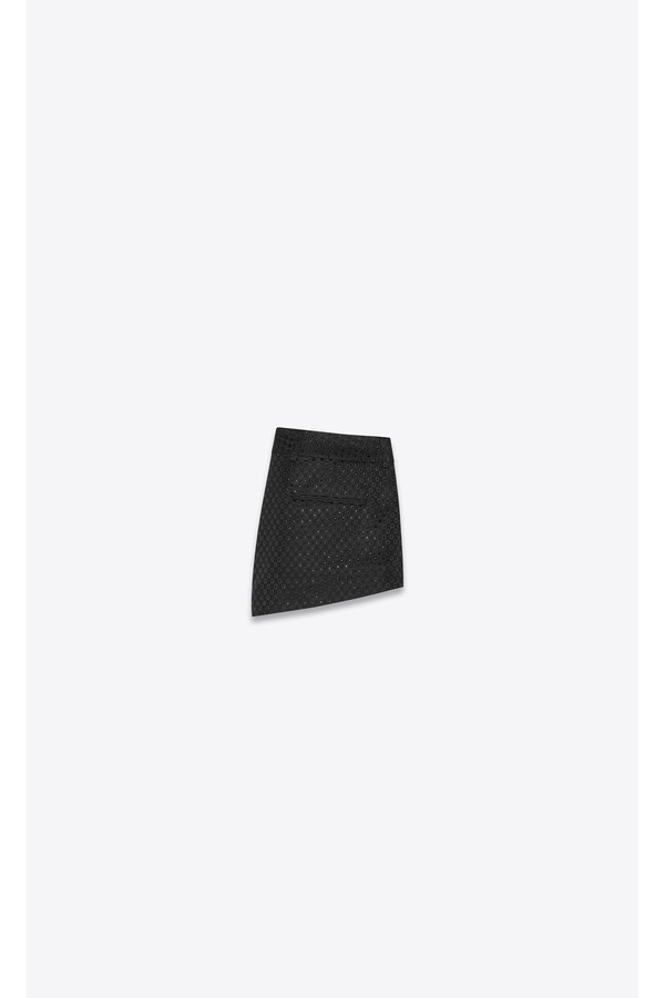 f2afe90c09 Mini Shorts In Lamé Waffle Fabric by Saint Laurent