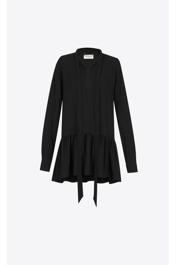 a19e6da108 Lavaliere Mini Dress In Black Sablé