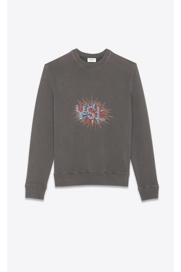 """5122f068db """"Ysl Disco"""" Sweatshirt"""