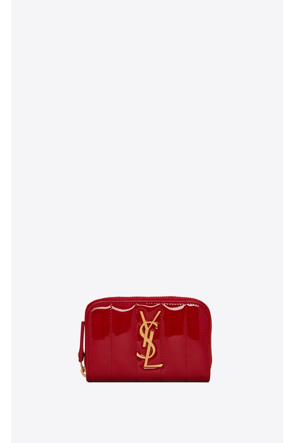 9878f349d659b9 Vicky Coin Purse In Quilted Patent Leather by Saint Laurent at...