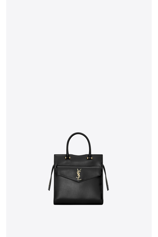 a6b055df21 Uptown Small Tote In Shiny Smooth Leather