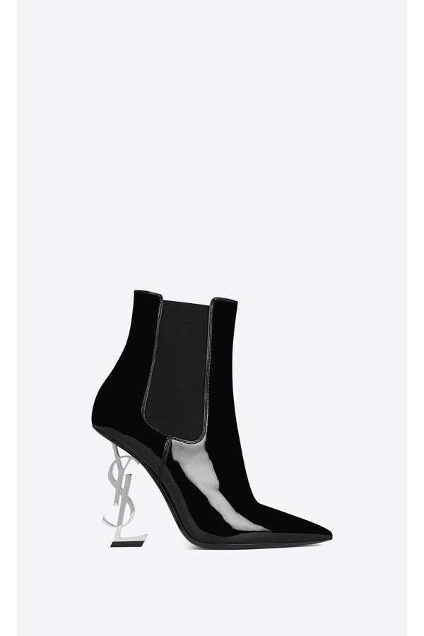 fbaeabe9fec Opyum Booties In Patent Leather With Black Heel by Saint Laurent...