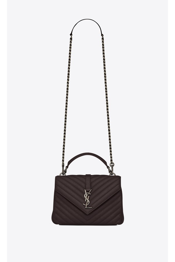 f0c8f957da9f Medium College Bag In Black Tulip Quilted Leather by Saint Laurent...