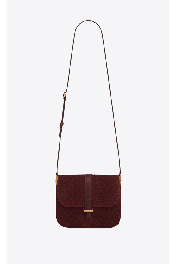 fcd435048ab Monogram All Over Small Satchel In Suede by Saint Laurent at...
