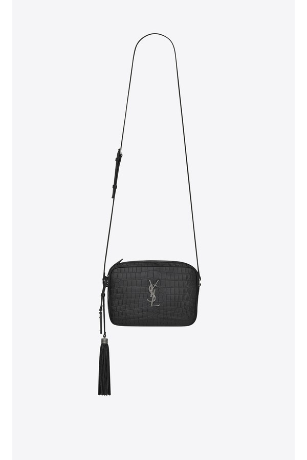 121c37de1f38 Lou Camera Bag In Crocodile Embossed Leather by Saint Laurent at...