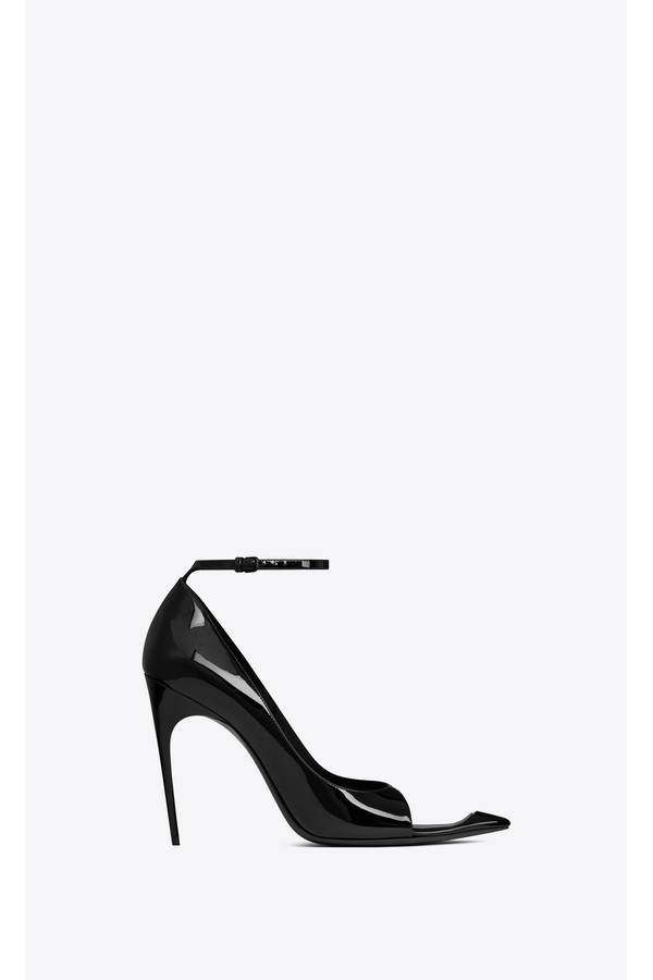 3992970e061 Edwige Peep-Toe Pumps In Patent Leather by Saint Laurent at...