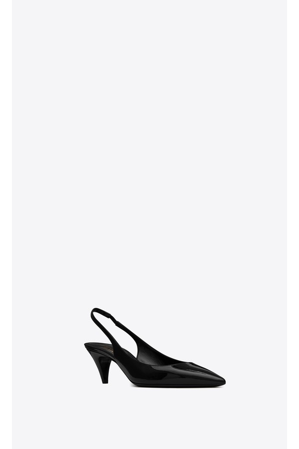 3d016b72995 Charlotte Slingbacks In Patent Leather by Saint Laurent at ORCHARD...