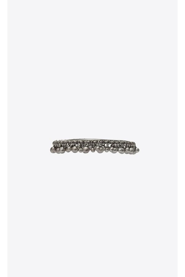 db0c45a140 Ysl Folk Bracelet With Bells In Silver Metal. by Saint Laurent
