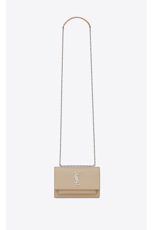 01dff9f65d98 Sunset Chain Wallet In Smooth Leather by Saint Laurent at ORCHARD MILE