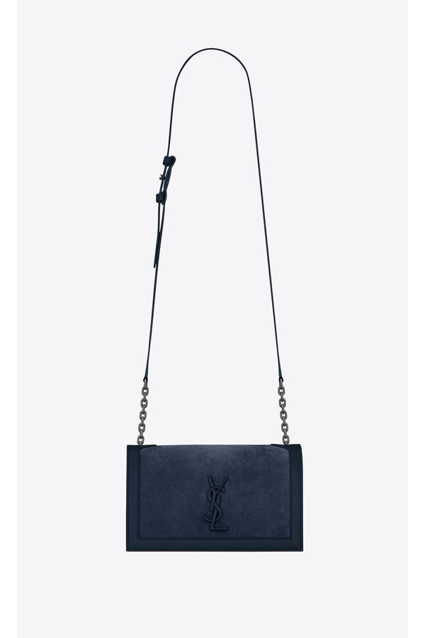 Book Bag In Suede And Leather by Saint Laurent at ORCHARD MILE 3000dd38ea821
