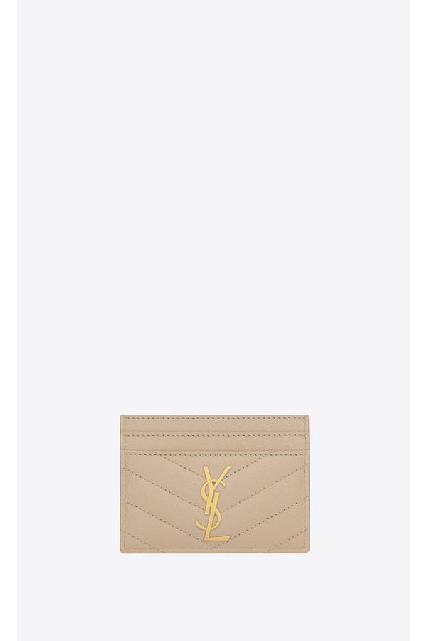 faeabd675e2 Monogram Card Case In Grain De Poudre Embossed Leather by Saint...