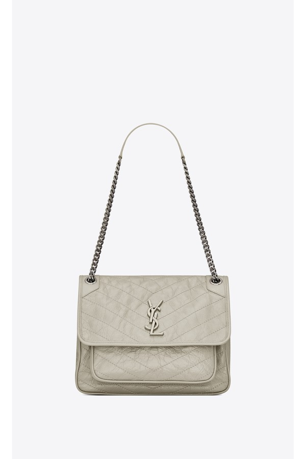 b8d13580a92 Medium Niki Bag In Crinkled Vintage Leather by Saint Laurent at...