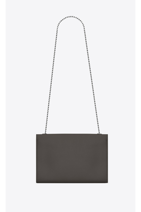 250e6d4e559 Large Kate Chain Bag In Grey Textured Leather by Saint Laurent at...