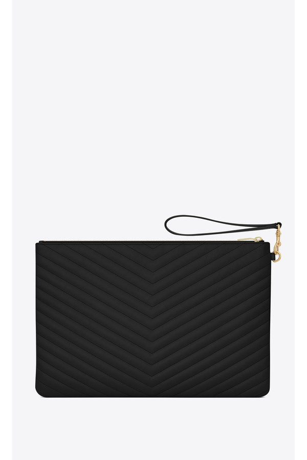 Monogram Document Holder In Matelassé Leather by Saint Laurent at... e02e2aed2833f