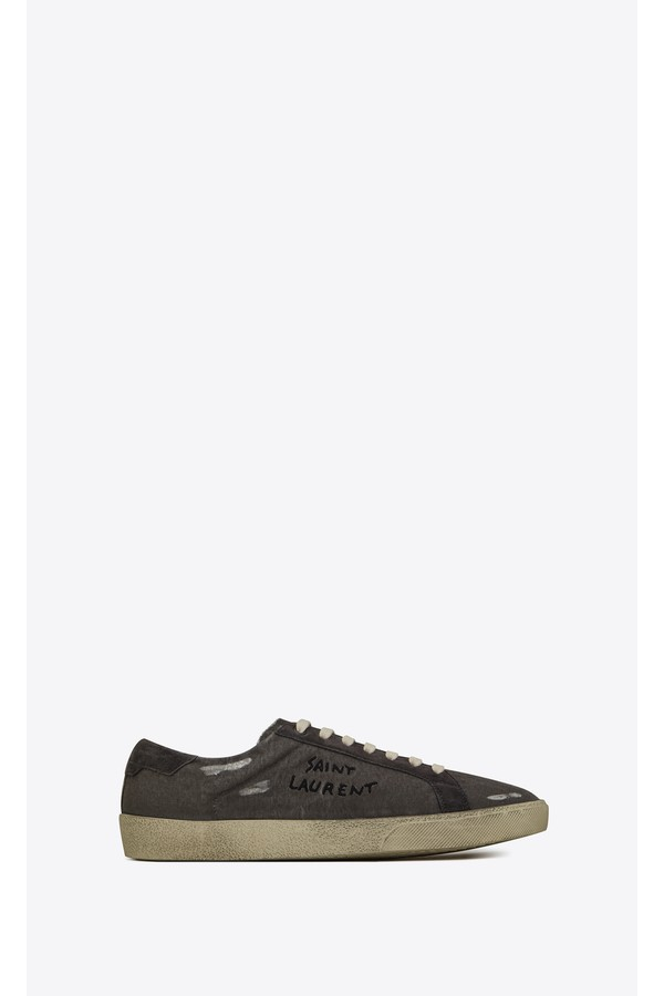 fcbfded627ad Court Classic Sl 06 Embroidered Sneakers In Destroyed Canvas by...
