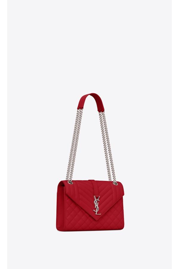 97557810f7ce Saint Laurent. Envelope Medium Bag In Grain De Poudre Embossed Leather