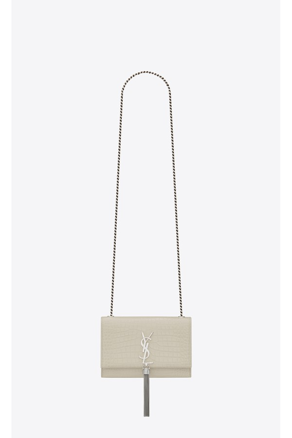 3c7c45e2206 Kate Small With Tassel In Embossed Crocodile Shiny Leather by...