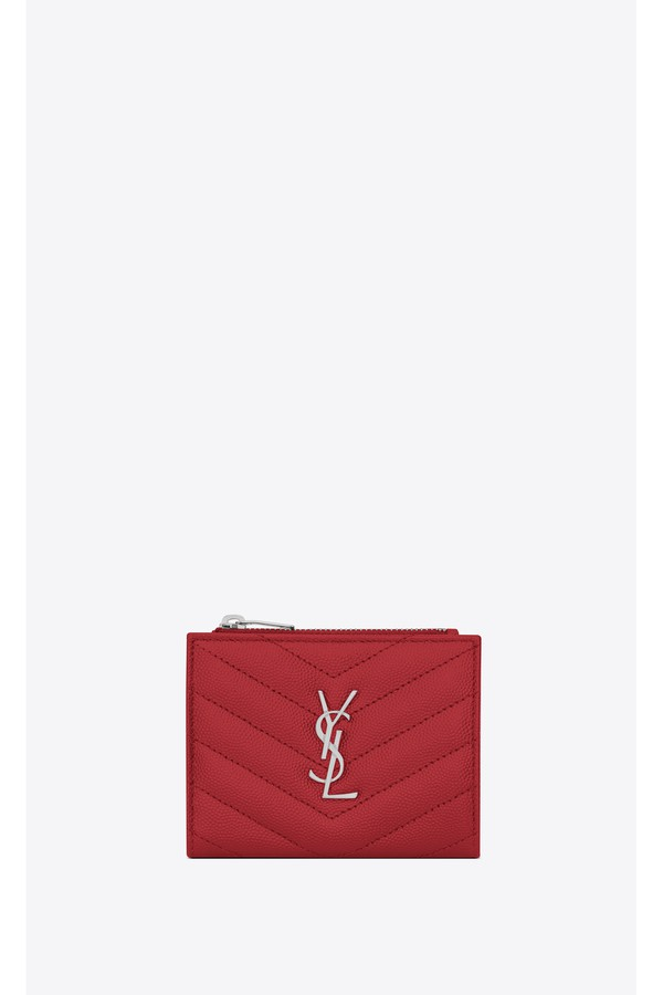 3d6fdc67173 Monogram Zipped Card Case In Grain De Poudre Embossed Leather by...