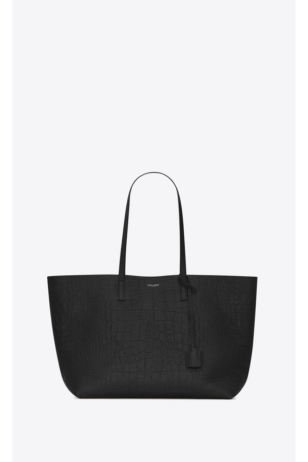 ed58f38fc0f8 Shopping Bag Saint Laurent E W In Embossed Crocodile Leather by...
