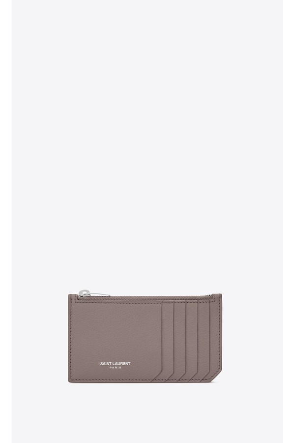 692bf4227c8 Fragments Zipped Card Case In Grained Leather by Saint Laurent at...
