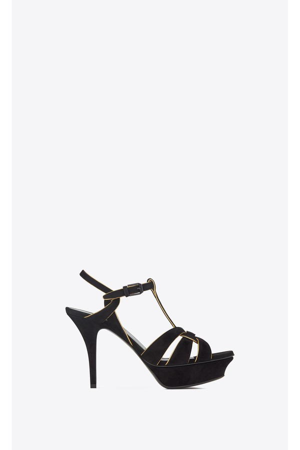 3edcc280287 Tribute Sandals In Suede And Leather by Saint Laurent at ORCHARD MILE