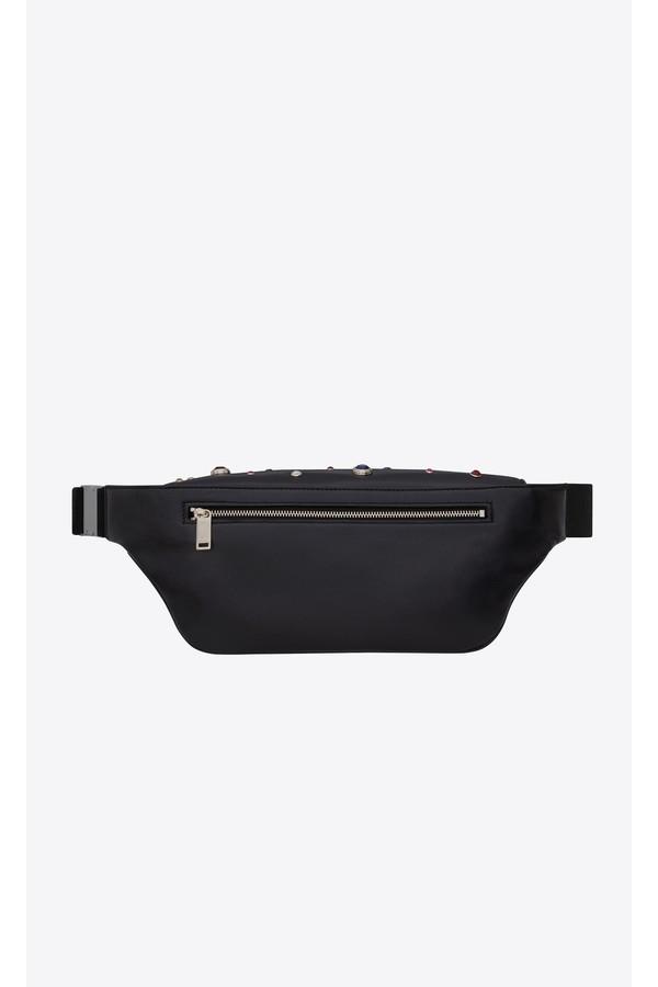 08c54ee42d Saint Laurent Classic Monogram Belt Bag In Leather With Crystals ...