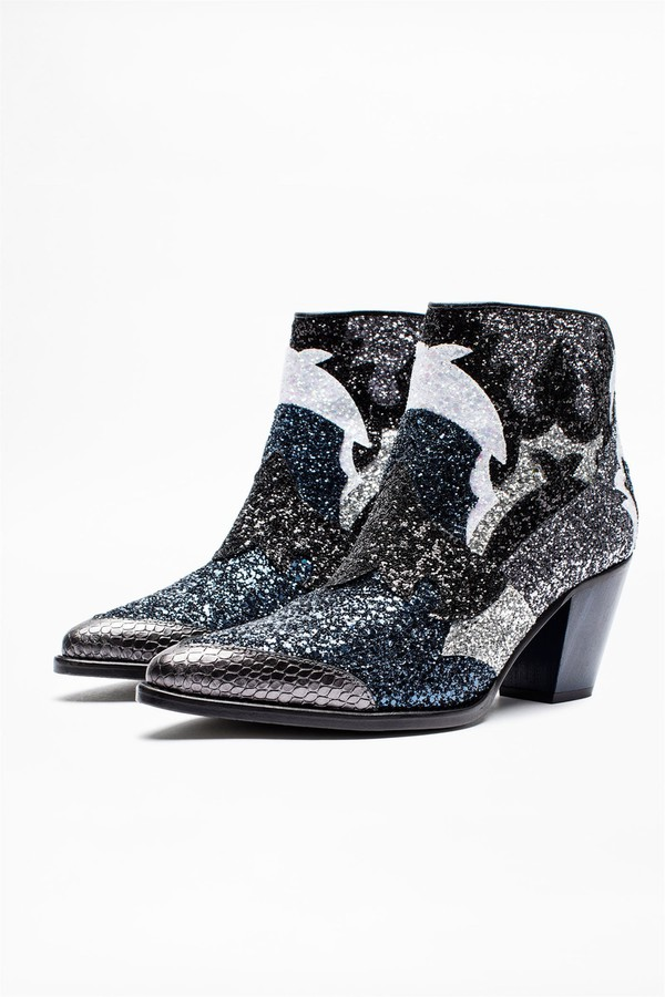 Cara Glitter Boots By Zadig Voltaire At Orchard Mile